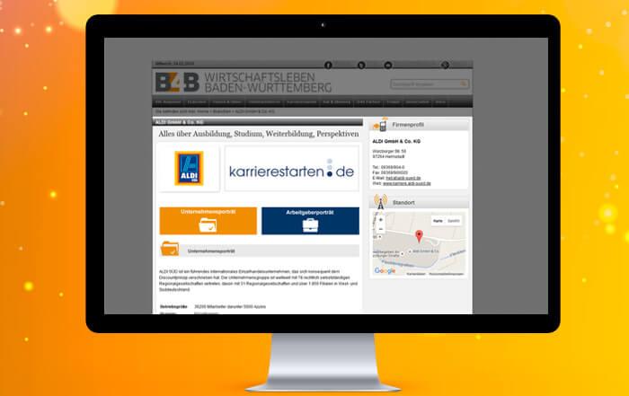 Stellenausschreibungen auf B4B Baden-Württemberg: karrierestarten